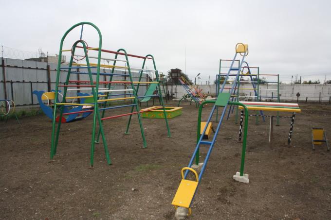 такие детские площадки заключенные изготавливают в основном по заказу акимата