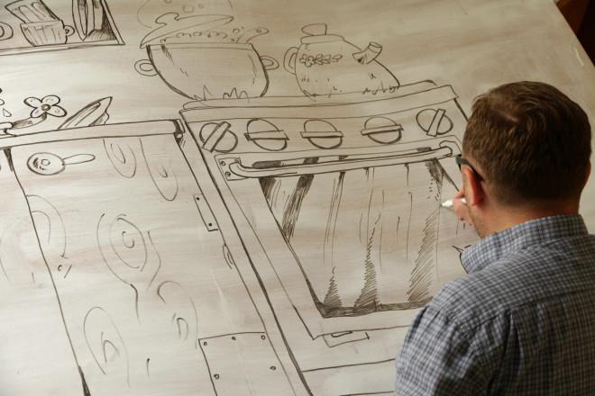 Рауль Упоров создаёт кухонный интерьер для наших разговоров.