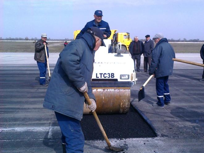 Ремонт взлётно-посадочной полосы алматинского аэропорта