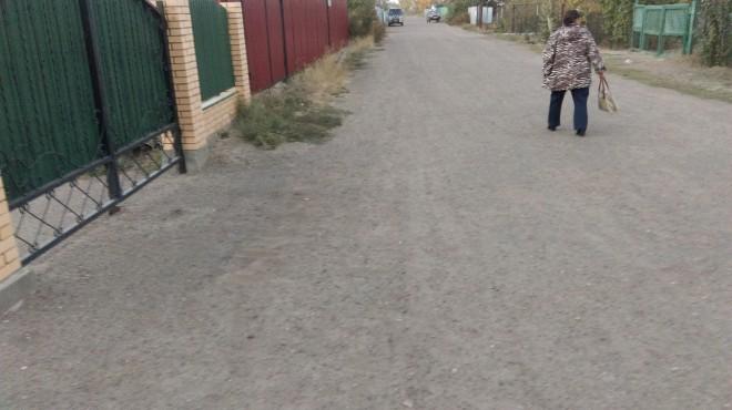 Дорога в поселке Асан до замены газовых труб