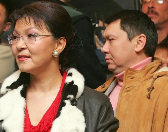 File photo of daughter of Kazakh President Nazarbayev and her husband Rakhat Aliyev