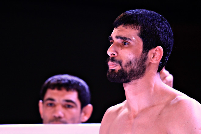 А самым ожидаемым среди профессионалов был бой между спортсменом из Азербайджана Фуадом Алиевым...