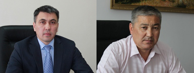 Слева направо: Нурлыбек Киреев и Мурат Игалиев.