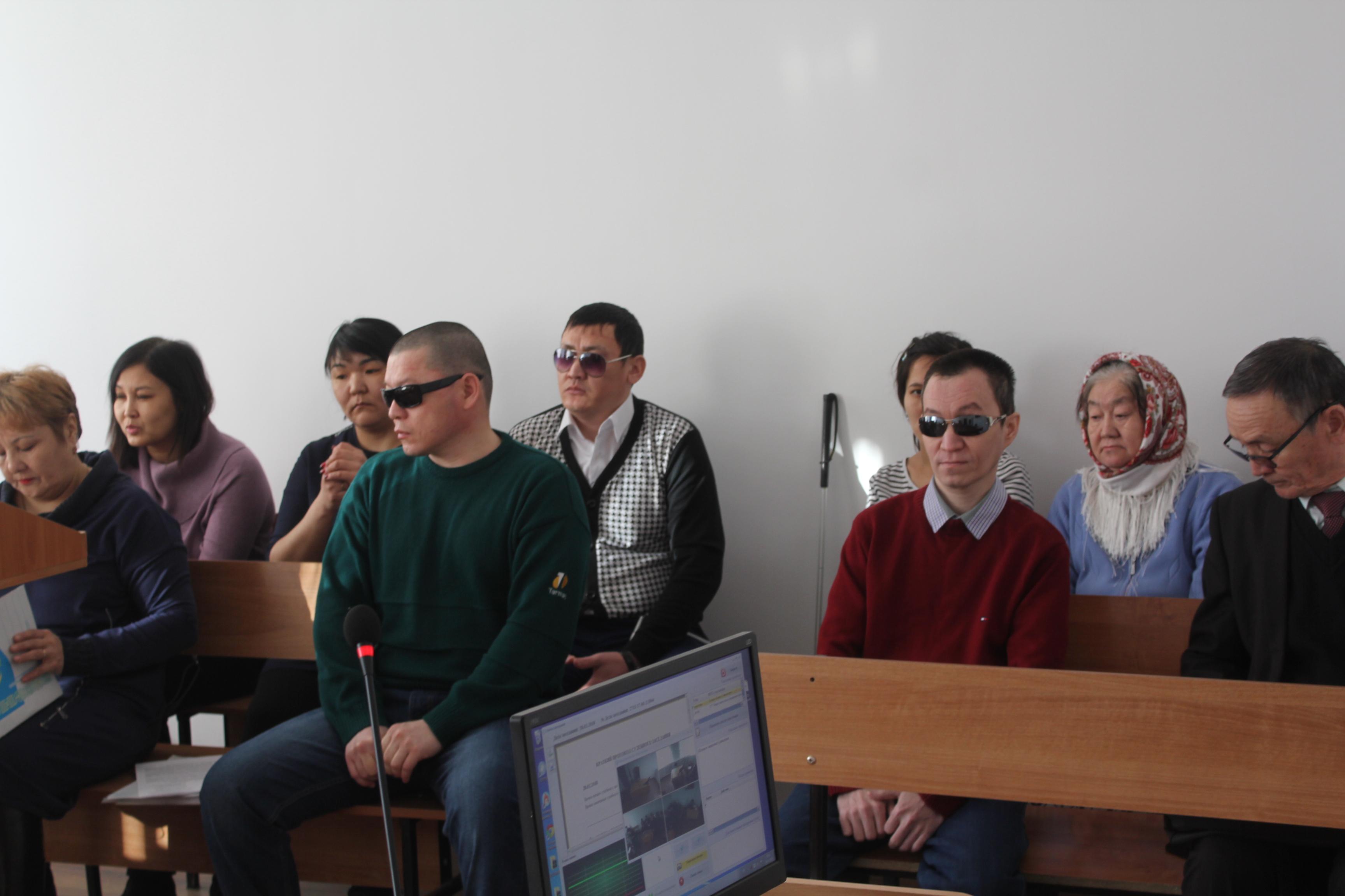 Инвалиды общества слепых из Уральска планируют переизбрать председателя